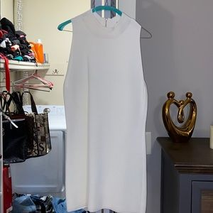 WHBM cream fitted dress . Size M